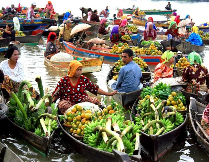 The Floating Market of Muara Kuin