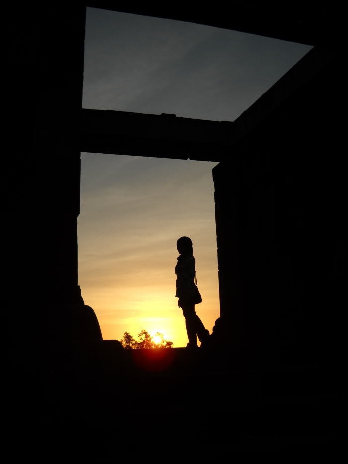 Sunset in Ratu Boko Palace Temple